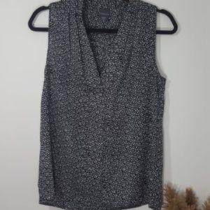 Covington   Black & White Sleeves Blouse
